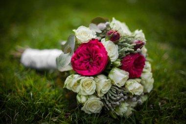 Wedding bouquet of freshly cut flowers