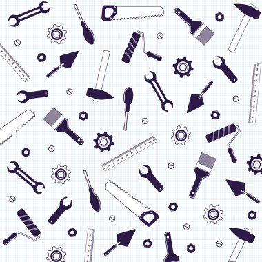 repair tools background  in blue color