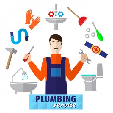 Logo house remodel service, logo plumbing service, tools to repair, design of  banners with tools to repair plumbing.