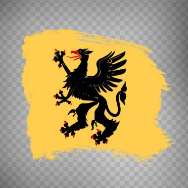 Flag Sodermanland  County  brush strokes. Flag of Sodermanland   County on transparent background for your web site design, app, UI. Sweden. EPS10. icon