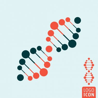 Dna icon isolated