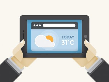 Weather forecast on the tablet