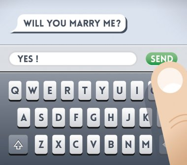 SMS message and reply