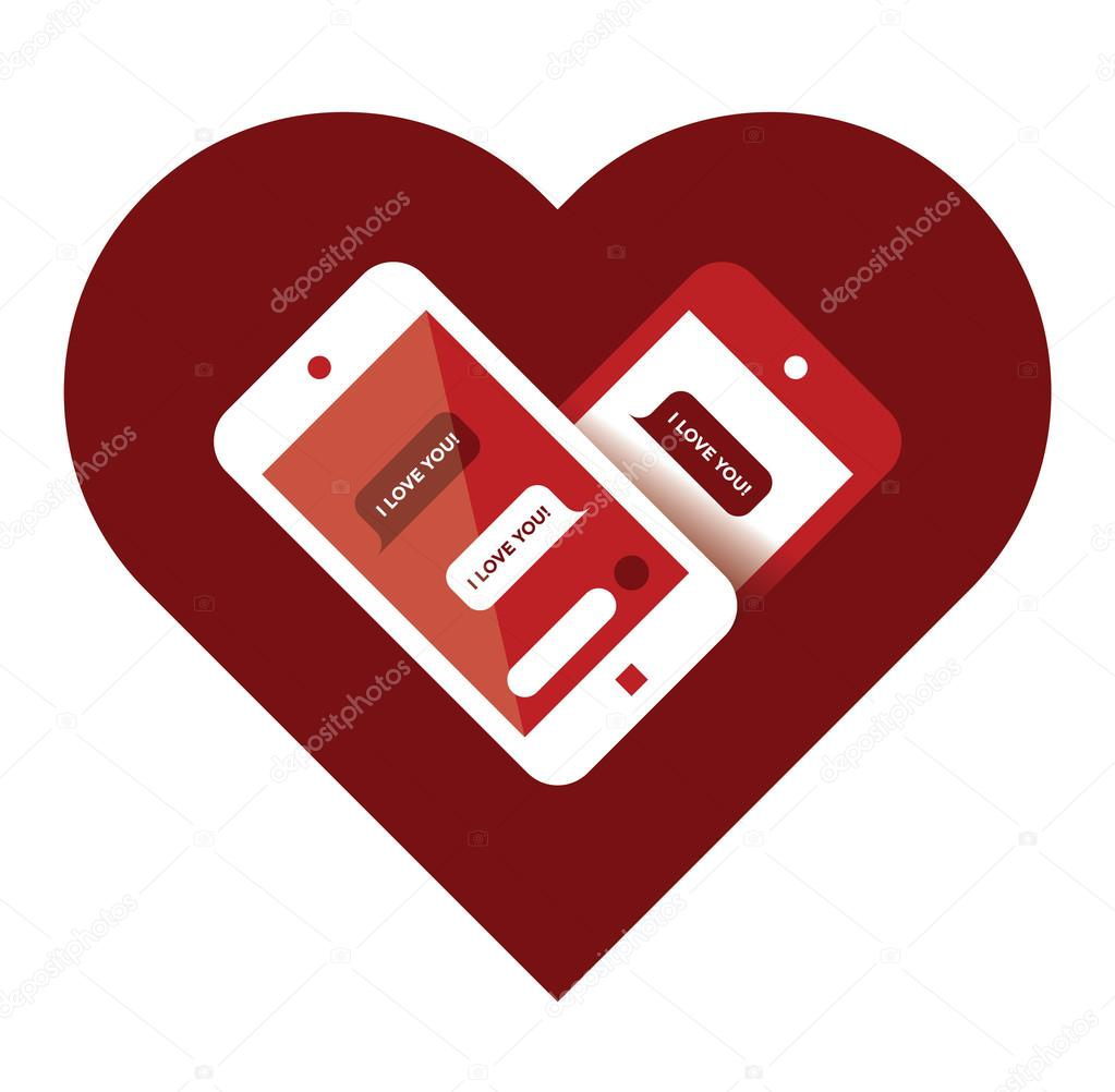 Mobile phones with I love you sms