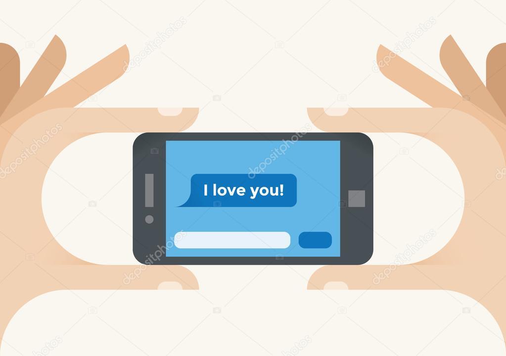 電話で あなたを愛して ストックベクター hannatolak 69616205