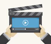 Film kereplő fedélzet-val video játékos