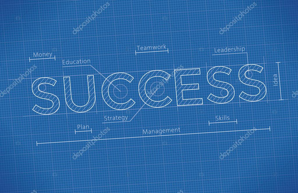 Business blueprint with success word stock vector hannatolak abstract business blueprint with success word idea business success elements leadership money skills management strategy planning teamwork malvernweather Gallery