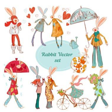 Hipster rabbits animals