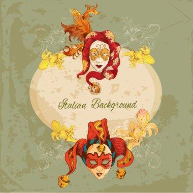 Venetian masks background