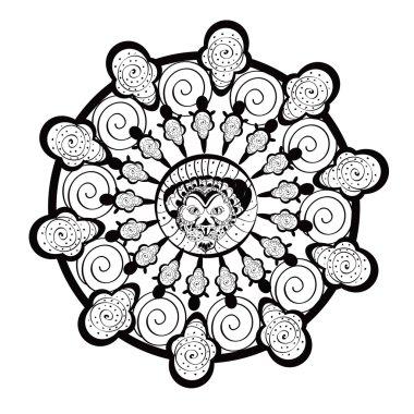 Lion african decorative element