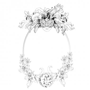 Venetian mask frame