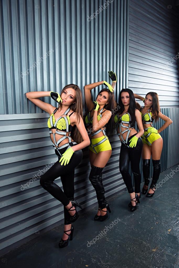 gruppe von sexy girls club