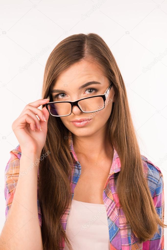 Девушка в очках сексуальная