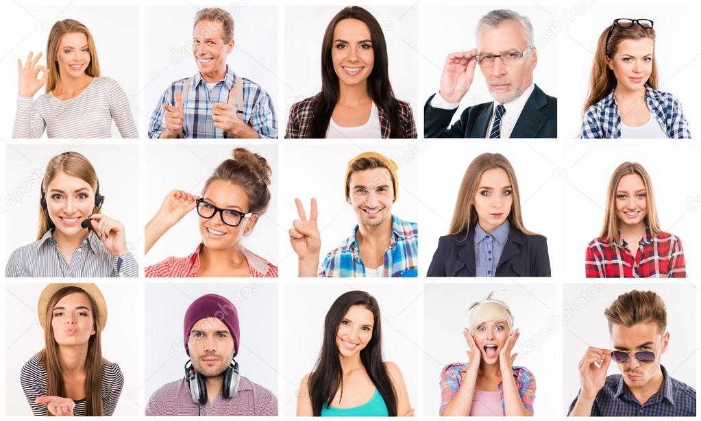 Imágenes Personas Con Distintas Emociones Collage De Diversas