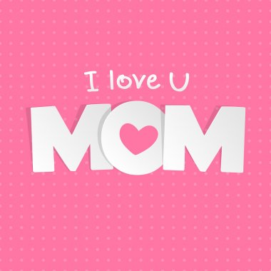 Mothers day card clip art vector