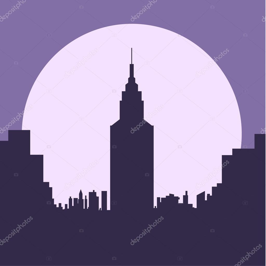 Banco de imagens : horizonte, luz, arquitetura, Horizonte, noite ...
