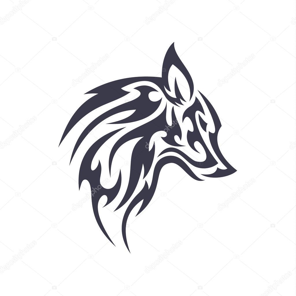 tatuaje lobo animal vector logo para negocio moderno 250nico