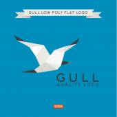 Fotografie Sea Gull niedrigen Poly, Polygon, Logo-Abbildung-Geometrie
