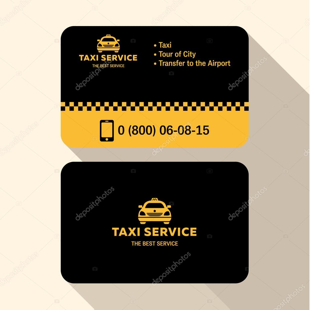 Business card taxi driver flat modern trendy style yellow and black business card taxi driver flat modern trendy style yellow and black plastic credit vetor reheart Images