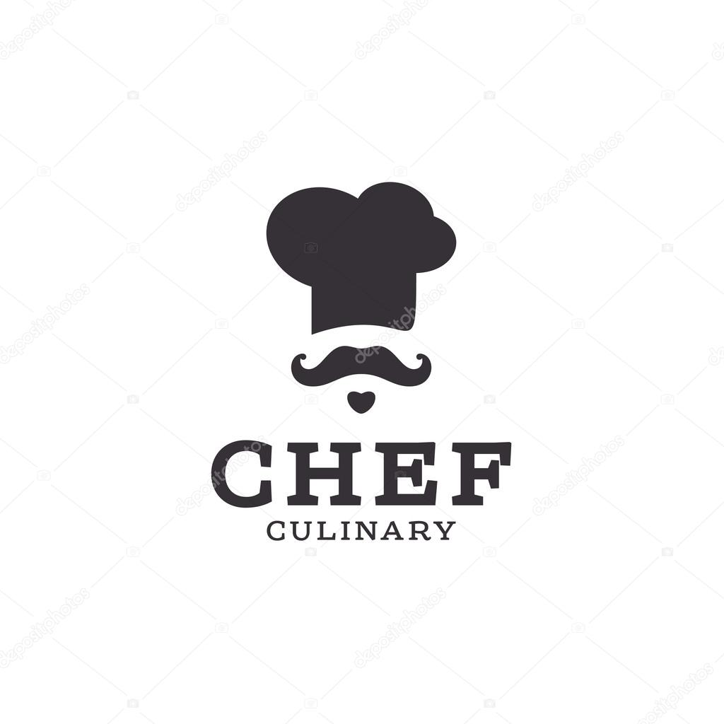 chef cook logo icon toque, chefs hat vector trend flat ...