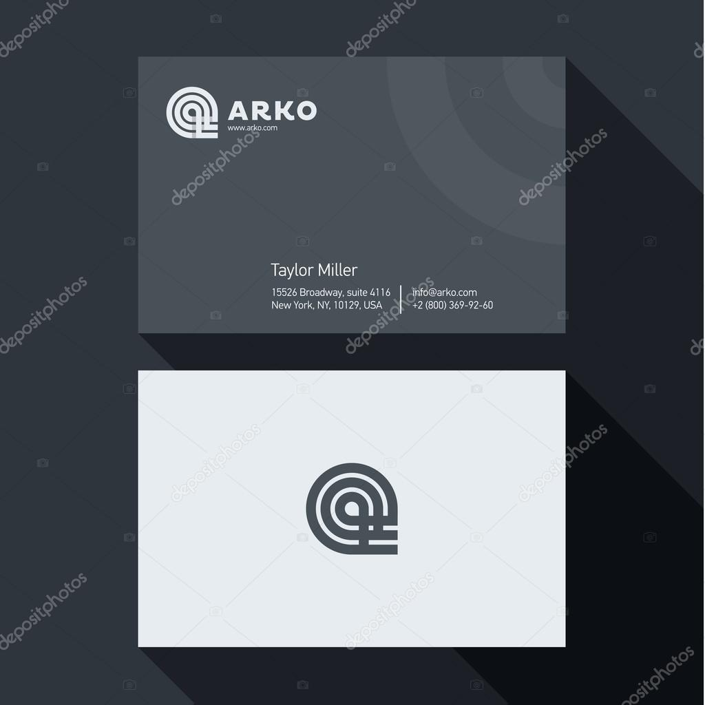 Qualitative elegant business card vector abstract logo and qualitative elegant business card vector abstract logo and professional layout vetores de stock reheart Gallery