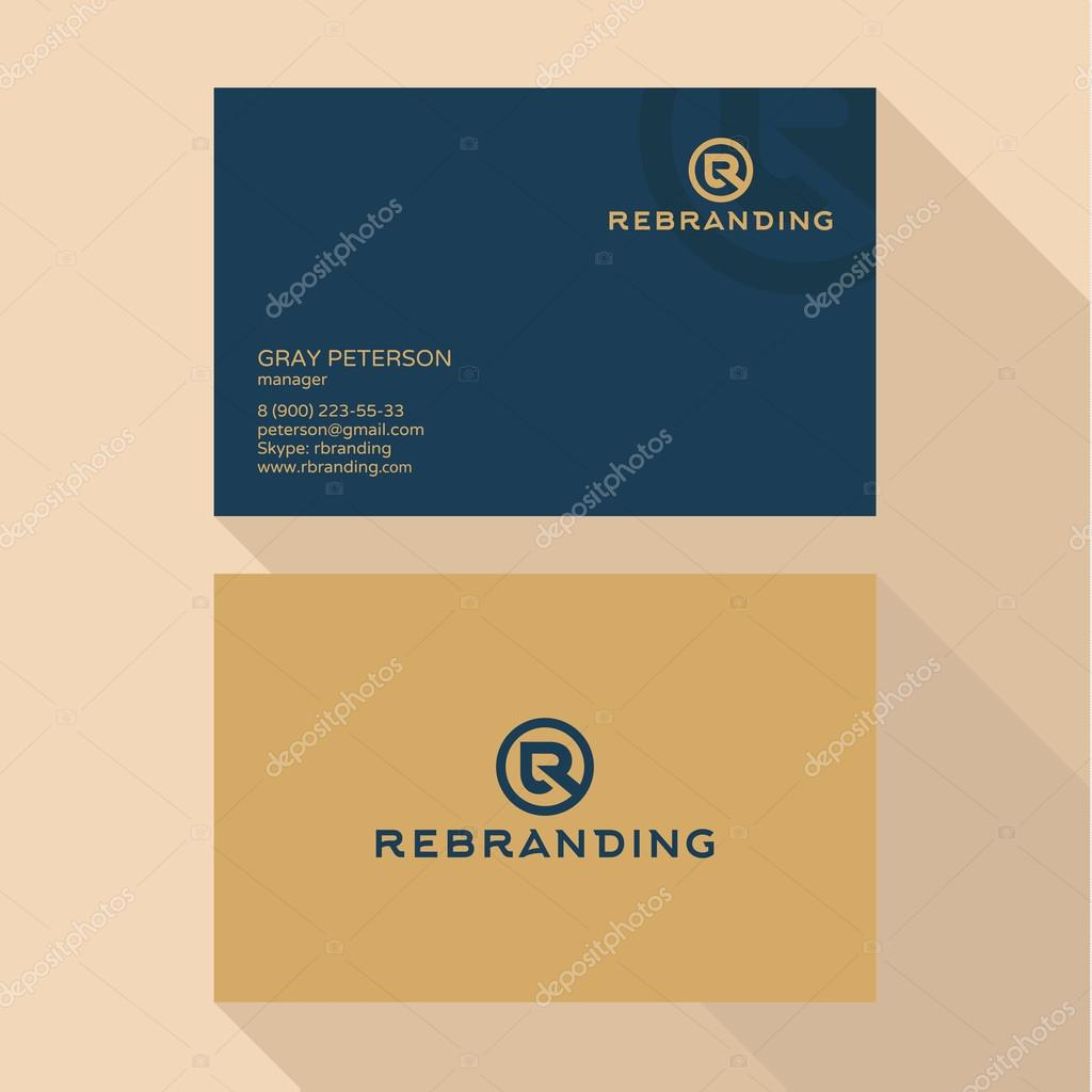 Qualitative elegant business card vector logo and professional qualitative elegant business card vector logo and professional layout vetores de stock reheart Gallery