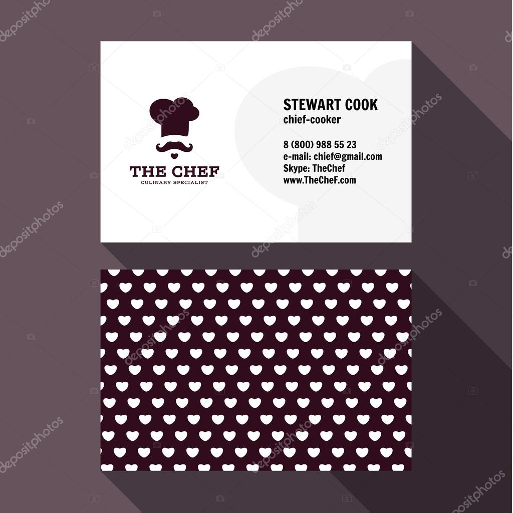 Qualitative elegant business card vector chef logo and professional qualitative elegant business card vector chef logo and professional layout vetor de stock reheart Gallery