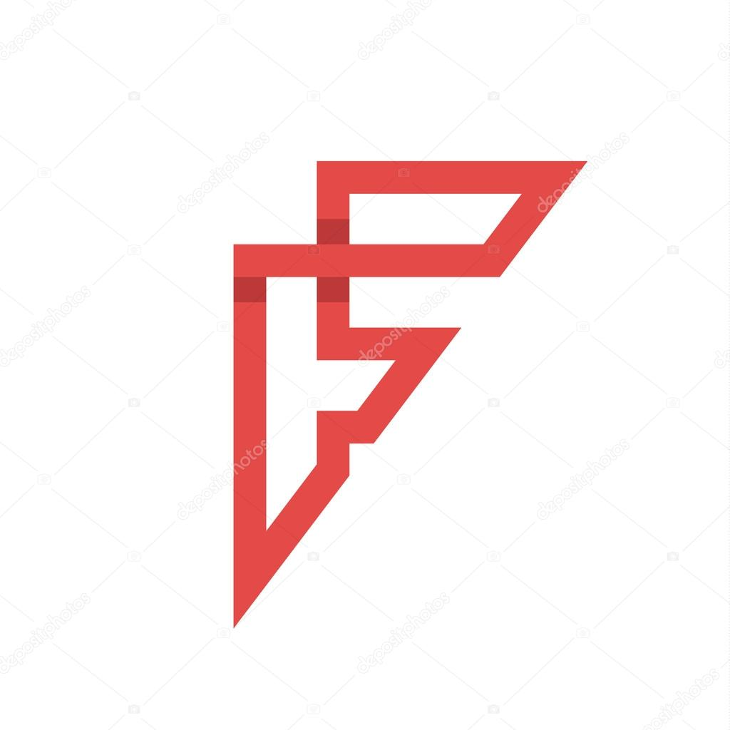 The Letter F On The Flat Style Stock Vector C Krasnoshchok