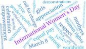 Photo International Womens Day Word Cloud
