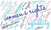Práva žen slovo mrak