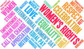 Photo Womens Rights Word Cloud