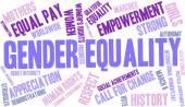 Fotografie Genderové rovnosti slovo mrak