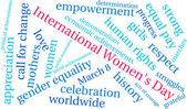 Fotografie Mezinárodní den žen slovo mrak