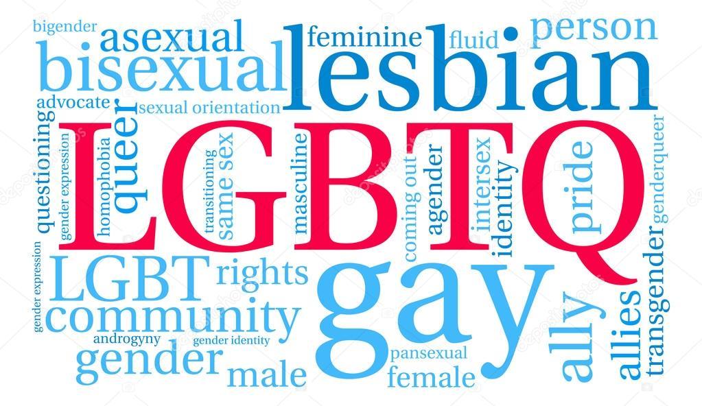 LGBTQ word cloud
