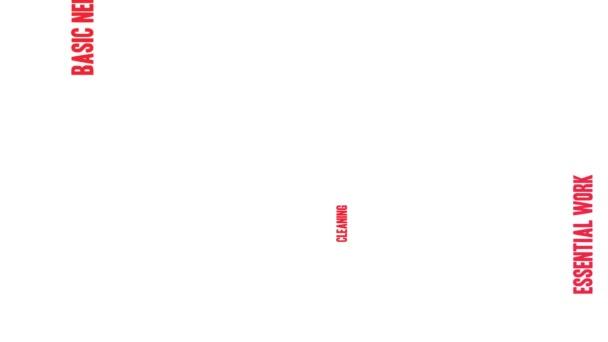 Gesundheitsarbeiter animierte Wortwolke auf weißem Hintergrund.