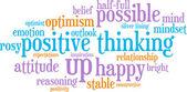 pozitivní myšlení slovo mrak