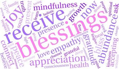 Blessings Word Cloud