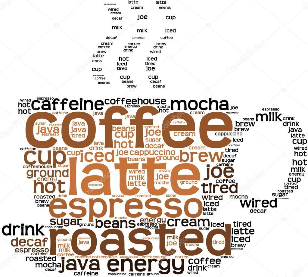 Coffee Word Cloud — Stock Vector © arloo #87226370
