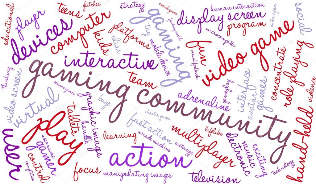Gaming Community Word Cloud — Stock Vector © arloo #88599356