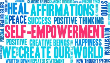 Self Empowerment word cloud on a white background. stock vector