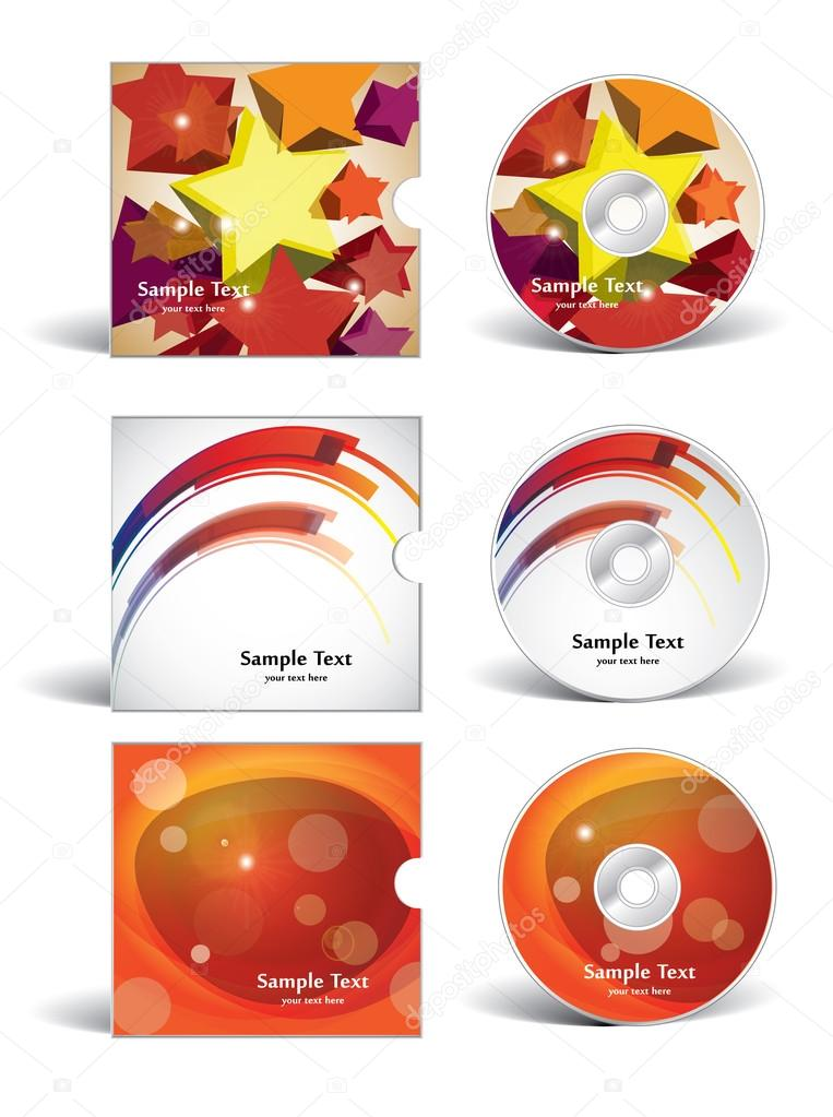 Cd covers design — Stock Vector © nucleartrash #70797449