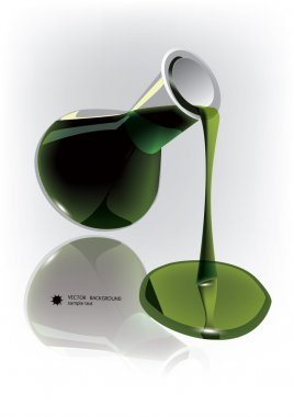 Chemical flask with green liquid