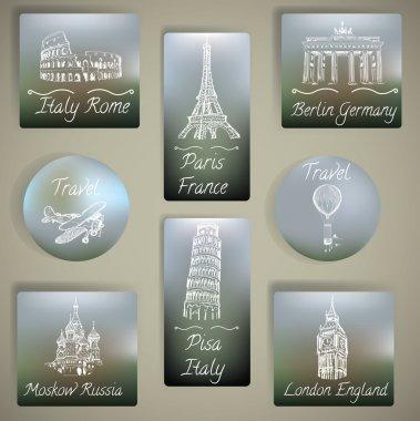 Travel labels set