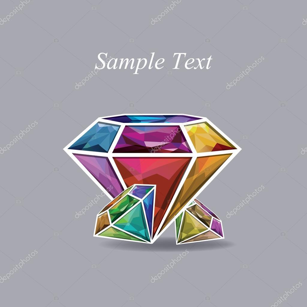 colorful diamonds icon
