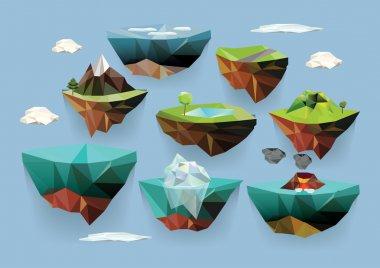 Set of islands with landscape