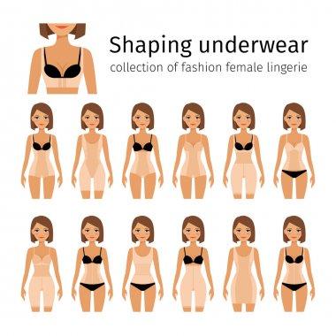 Woman in shaping underwear