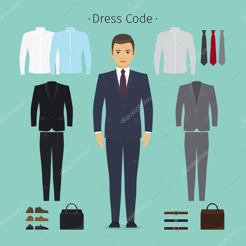 Діловий одяг людина — Стоковий вектор — білий © ssstocker  110837588 8917a0ce0d4e2