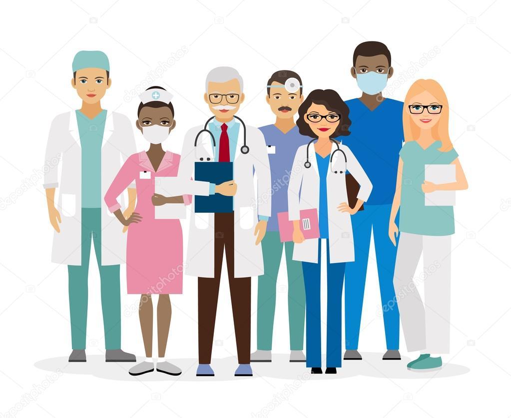 Illustrazione vettoriale di equipe medica — vettoriali