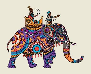 Indian ornate maharajah on the elephant