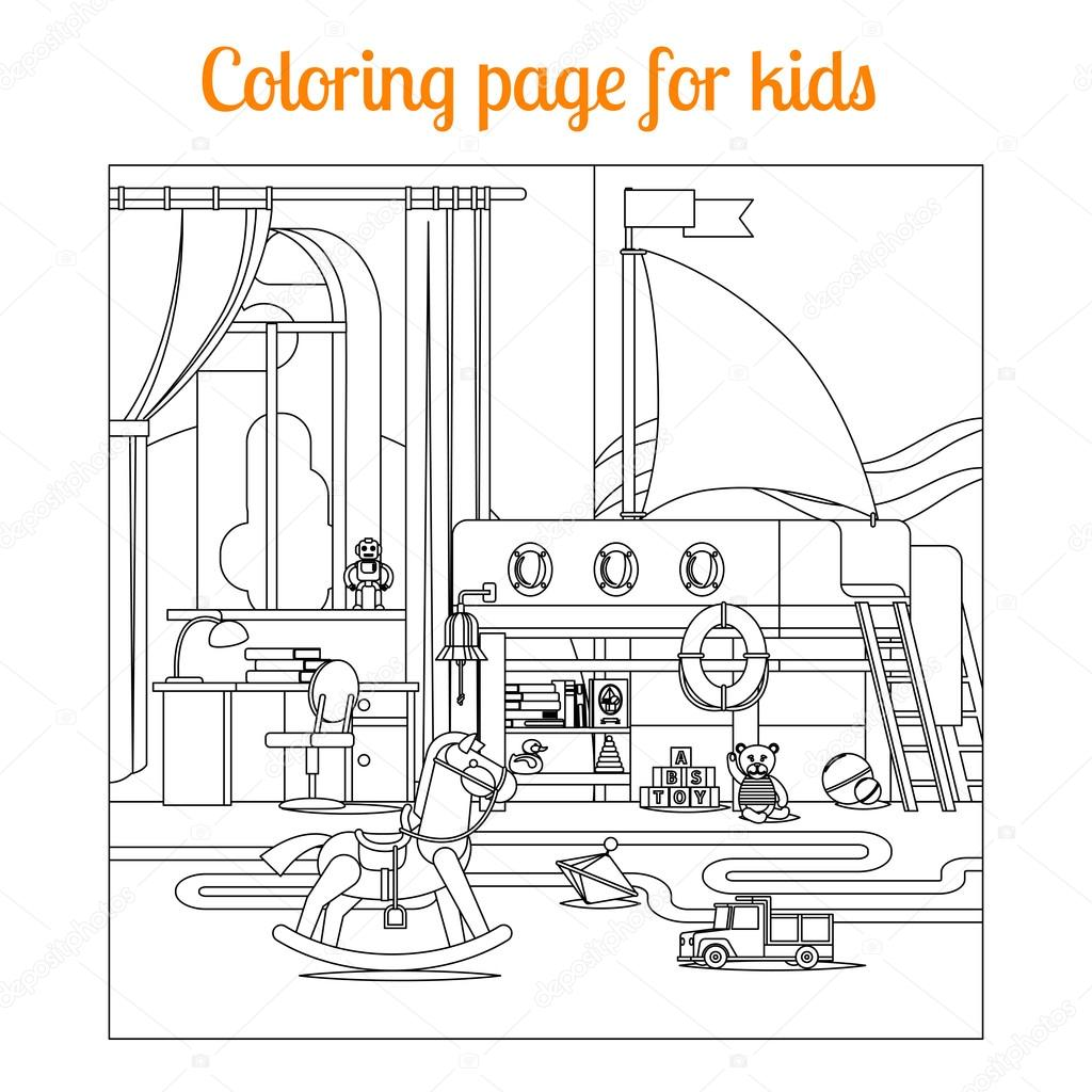 Buch-Malvorlagen für Kinder — Stockvektor © ssstocker #124249988